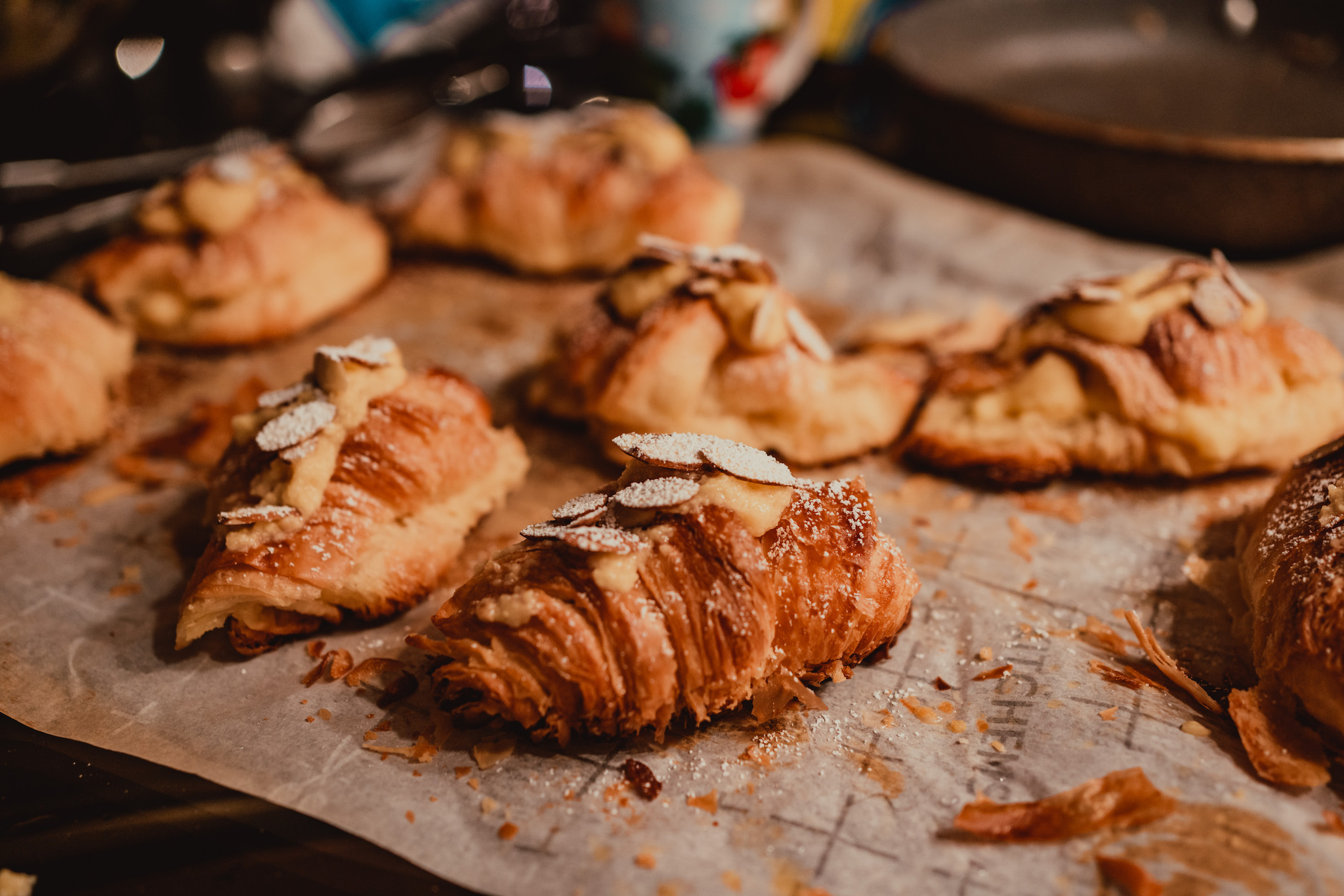 i baked these almond croissants